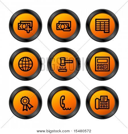 Finance 2 icons, orange circle series