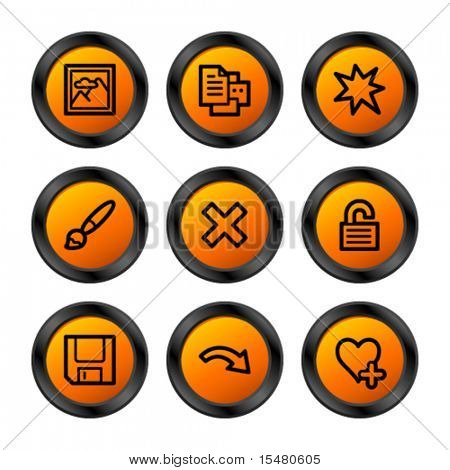 Image viewer 2 icons, orange circle series