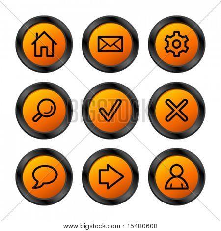 Web icons, orange circle series