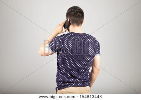 Man Talking Via Smartphone