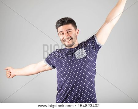 Man Stretching After Wake Up