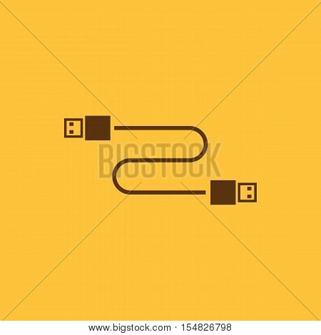 Transfer and connection icon. Transfer and connection, data, The cable usb icon. Transfer and connection, data symbol. UI. Web. Logo. Sign. Flat design. App. Stock symbol. UI. Web. Logo. Sign. Flat design. App. Stock vector