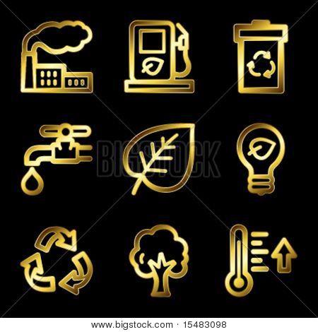 Gold Luxus Eco-Web-Icons V2