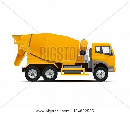 Cement Mixer Truck. High Detailed Vector illustration.