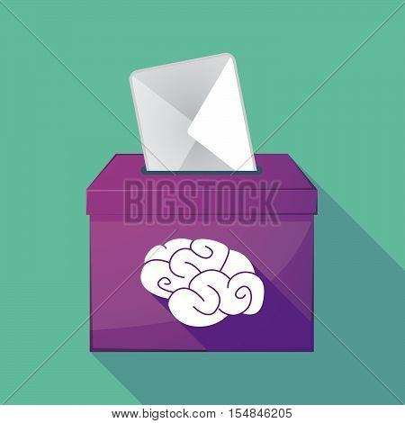 Long Shadow Coloured Ballot Box Icon With