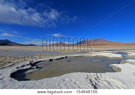 Laguna Ramaditas, altiplano, southern Bolivia South America