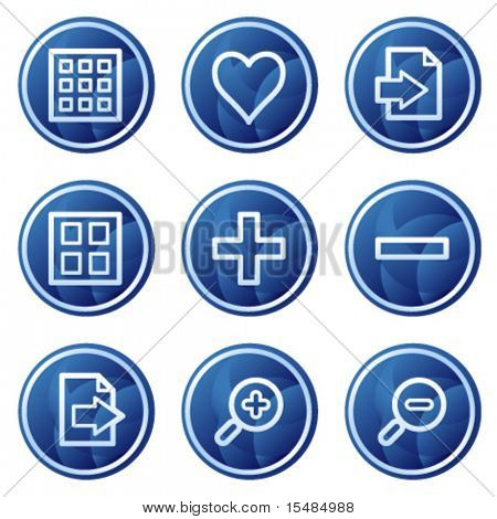 Image viewer web icons, blue circle buttons series