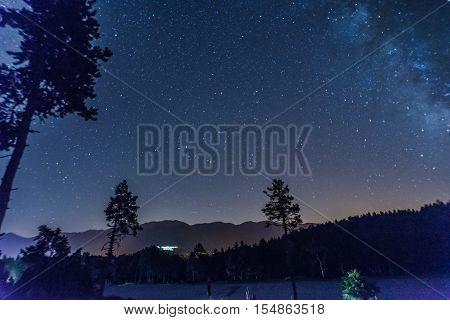 Font-Romeo, Pyrénées, Catalane, France, voie, lactée, étoile, ciel, paysage, nuit