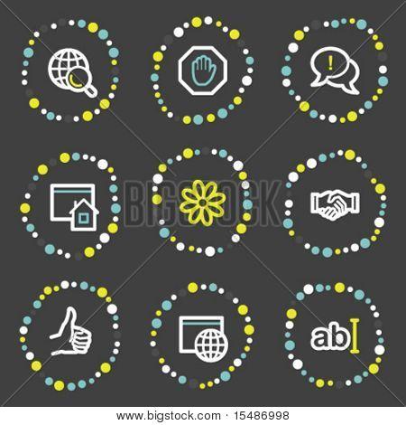 Internet communication web icons, color dots series