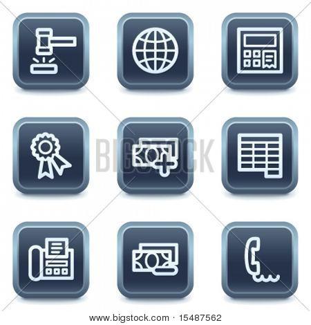 Finanzen Web Icons set 2, Mineral quadratische Tasten Serie