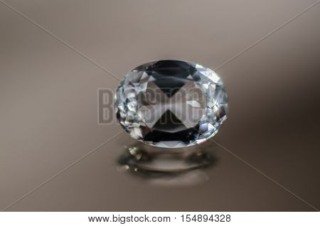 Sparkling Oval Diamond close-up facets, gem, gift, gloss, glossy