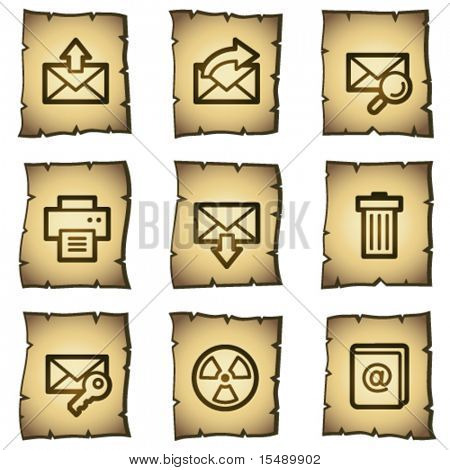 E-mail web icons set 2, papyrus series