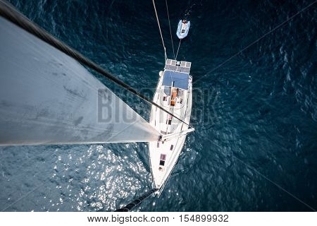 Sailing vessel, view from top of the mast