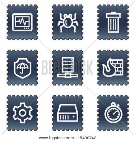 Série de selos do Internet security web ícones, Marinha