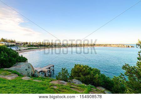 View at Port Elliot Jetty Horseshoe Bay South Australia