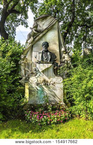 Grave Of Composer Franz Von Suppe  In Vienna