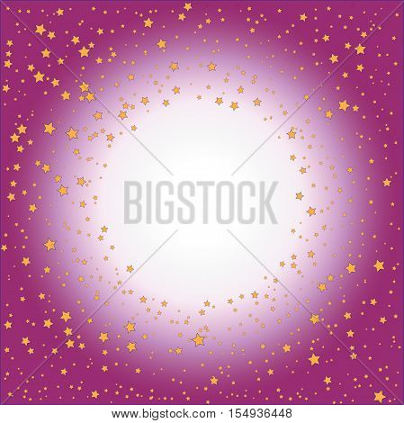Gold stars on pink (crimson) gradient background
