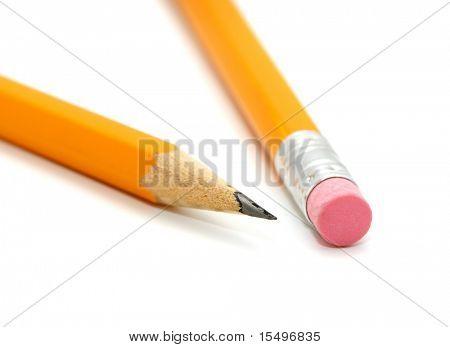 Lápis sobre um fundo branco