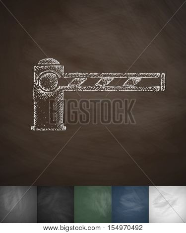barrier icon. Hand drawn vector illustration. Chalkboard Design