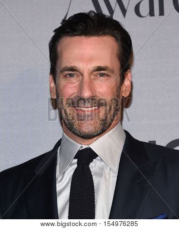 LOS ANGELES - OCT 24:  Jon Hamm arrives to the InStyle Awards 2016 on October 24, 2016 in Hollywood, CA