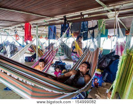 On Cargo Boat. Amazon.
