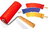 picture of paint brush  - Paint roller - JPG