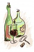 foto of grape-vine  - Wine - JPG