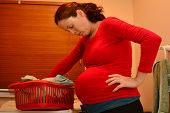 Постер, плакат: Pregnancy Pregnant Woman Housework