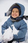 image of ruddy-faced  - Wonderful activity on snow - JPG