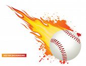 pic of hitter  - Baseball with flames - JPG