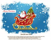 stock photo of santa-claus  - Santa Claus in his sleigh - JPG