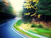 Nature Road Artistic Motion Blur