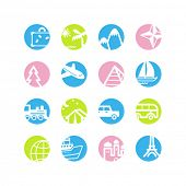 spring circle travel icons