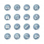 blue sticker medicine icons