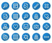 Image library web icons, blue sticker series