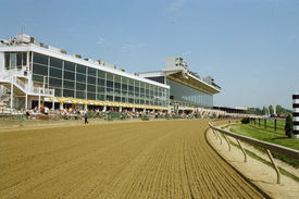 stock photo of race track  - major racetrack used all year round - JPG