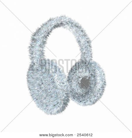 Render Of Snowe White Furry Winter Earmuffs