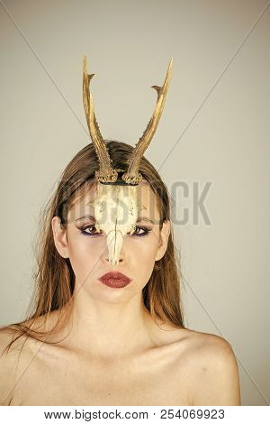 Woman Horns Halloween Mythical Woman