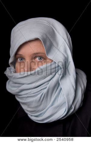 Woman In A Blue Scarf