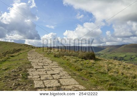 The summit of Mam Tor