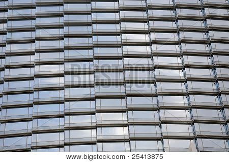 Glass Wall Of Skyscrapper