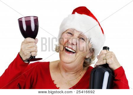 Senior Woman Enjoying The Holidays