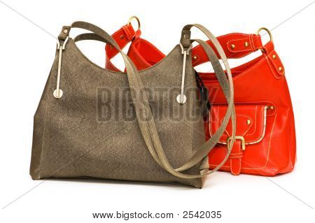 Woman Bags Isolated On The White Background