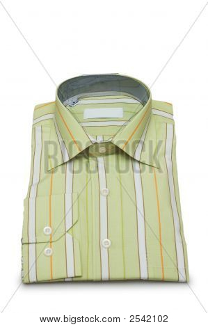 Striped Shirt Isolated On The White Background