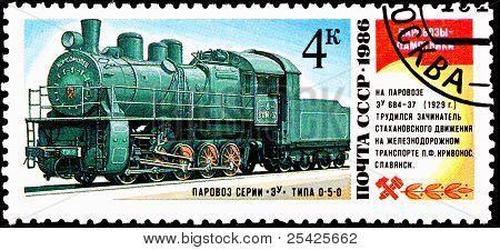 Soviet Eu 684-37 Steam Locomotive