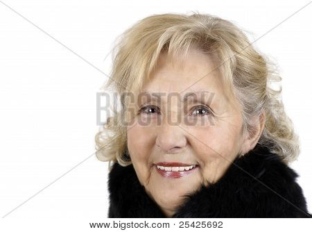 Smiling Friendly Senior Woman