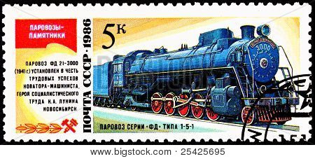 Soviet Fd 21-3000 Steam Locomotive