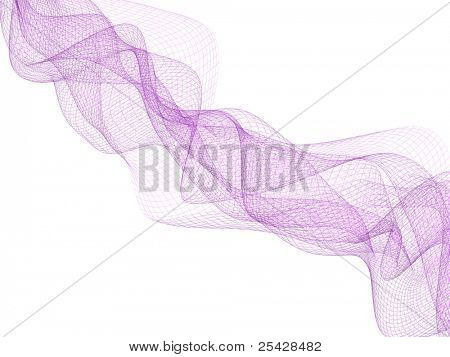 Abstract background of flowing magenta wireframe