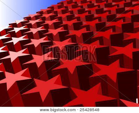 Vektor der 3D rote Sterne