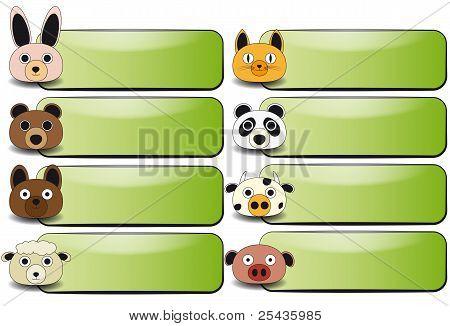 Animal Face Banner